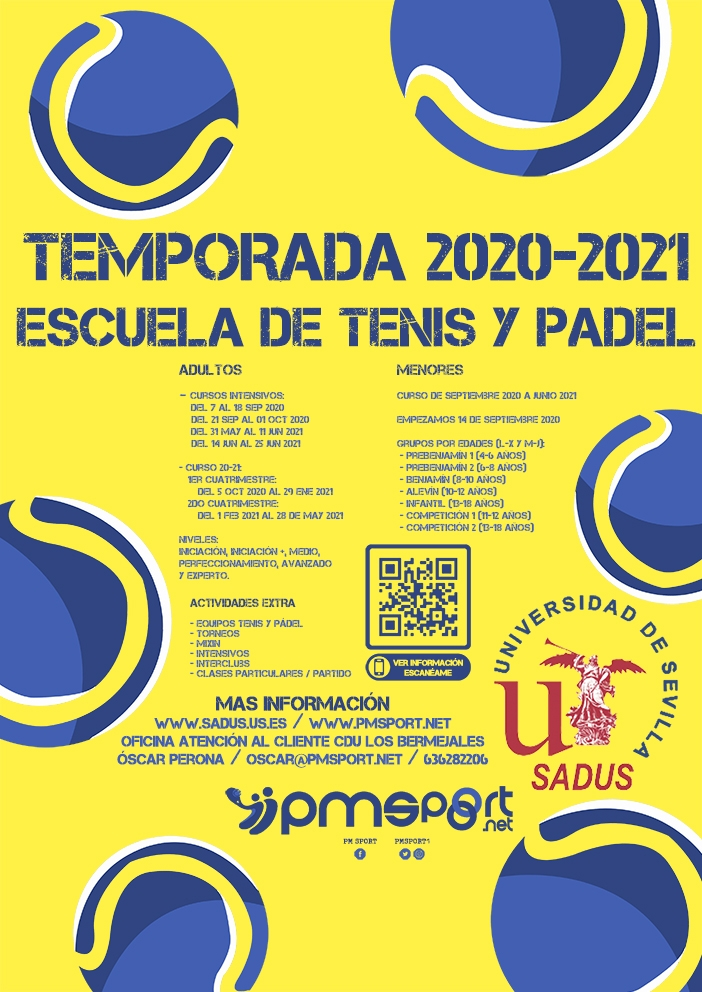 IESCUELA TENIS Y PADEL SADUS, TEMPORADA 20-21