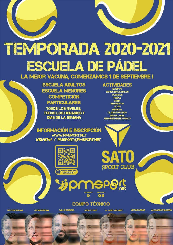 IESCUELA PADEL SATO SPORT, TEMPORADA 20-21
